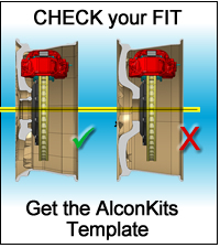 Check fit of this Alcon Kit to your car.